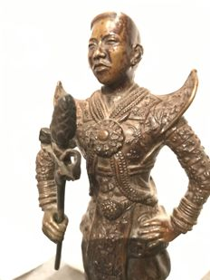 Statue of a warrior – Asia – middle/second half of the 20th century.