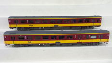 LS Models H0 - 44 063-1/44 063-2 - BeNeLux carriages 2nd class and BKD of the NS and the NMBS