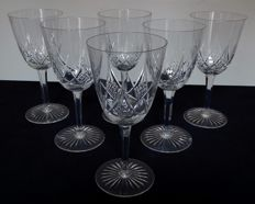Baccarat - model Epron; 6 water glasses in crystal, France, circa 1900