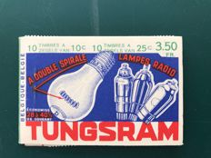 Belgium 1936 - Stamp booklet Tungsram, with value 3.50 Fr - OBP A31