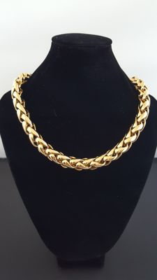 Christian Dior vintage gold plated chain necklace
