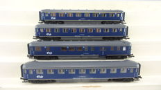 "Roco H0 - from set 41297 - 4 Passenger carriages ""Plan-D"" 1st/2nd class with dining carriage of the NS"