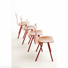 Designer unknown, for Eromes - 4 OBO 6400 school chairs (lot 2)