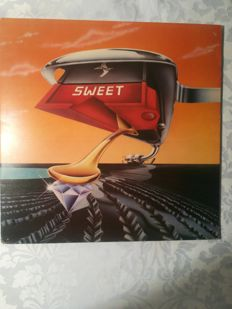 7 albums / Lp´s from Sweet, 2 x bay city rollers, 2 x Styx , 2 x Rod Steward - music history on LP´s from the 70ies and 80ies