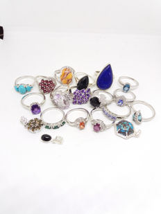 925 silver jewellery various ring sizes - no reserve