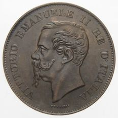 Kingdom of Italy, 1867 – 5 Cent coin, Milan – Vittorio Emanuele II