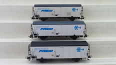 "Brawa H0 - 2043 - 3 piece set with refrigerated wagons ""Interfrigo"" of the NS"