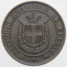 Kingdom of Italy - 2 Centesimi coin, 1859 - Vittorio Emanuele II 'Re Eletto'