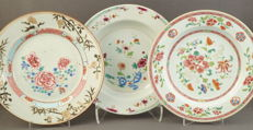 Porcelain famille rose plates - China - 18th century