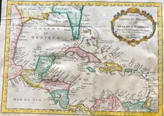 Central-America, Gulf of Mexico; Jacques Nicolas Bellin - Carte Du Golphe Du Mexique et des Isles De L'Amerique (..) - 1754