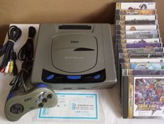 Japanese sega saturn console with 15 games