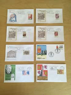 Spain 1960/1990s - Lot of 255 different first day covers