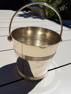 "Christofle Gallia Ice Bucket, ""Ondulation"" ny Luc Lanel, Christofle brand"