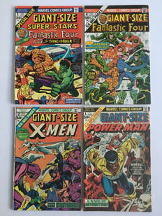 Marvel Comics - Marvel Giant-Size Comics - X-Men #2, Power Man #1, Fantastic Four #4 & Super-Stars #1 - 1st Print - 4x SC - (1974/1975)