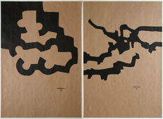 "Eduardo Chillida  (1924 -2002) - ""Composición"" (1980) and  ""Marmól y Plomo"" (1975)"