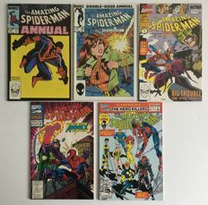 Marvel Comics - Amazing Spider-Man Annuals - Issues #17, #19, #24, #26 & #27 - 1st Print - 5x SC - (1983/1993)