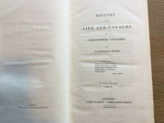 Washington Irving - A history of the life and voyages of Christopher Columbus. -  4 volumes - 1828