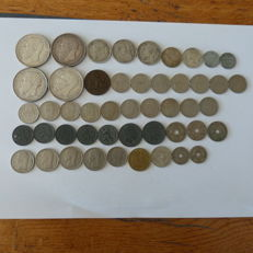 Belgium - lot of 48 coins 5 cts to 5 Francs 1837/1988 including silver (9)