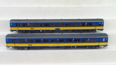 LS Models H0 - 44 071-1/44 071-2 - ICR carriages 1st and 2nd class of the NS.