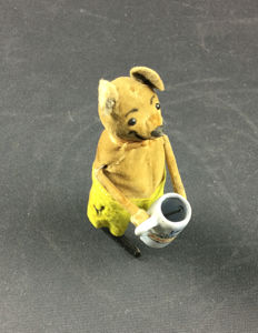 Schuco, Germany - Height: 11 cm - Mickey Mouse with mug 965, 1930s