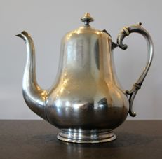 Large silver plated metal teapot - Late 19th century - Hallmarked, silversmith C. Pillet