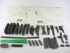 Minitrix N - 4964/-04/-22/and others - 93-piece lot of rails with 5x (electric) points [559]