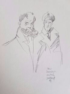 Juillard, André - Original commission drawing in pencil - Blake & Mortimer - (2004)