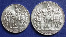 Empire, Prussia 2 and 3 Mark 1913 A 100. Anniversary of the liberation wars – silver