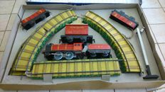 Chad Valley, England - Scale 0 - Mechanical Train Set 3402, 1950s