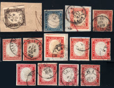 Sardinia 1861 - small collection with 12 stamps from the 4th issue