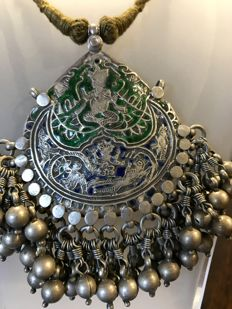 Antique Silver pendant -Himachal Pradesh, India - Early XX Century