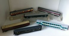 Fleischmann H0 - 6x different passenger carriages, mostly of the DB