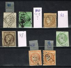 France 1849/1900 - 198 classical stamps 19th century