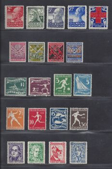 The Netherlands 1927/1928 - Two complete year - NVPH 203/207, 208/211, 212/219 and 220/223
