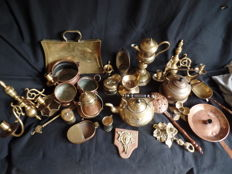A collection of 26 different copper items