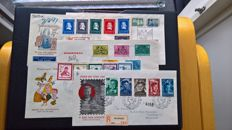 The Netherlands 1950/1952 - Selection of First Day Covers - NVPH E4, E6, E7, E10 and E11