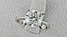 2.61 ct   round diamond ring 18 kt gold - size 7