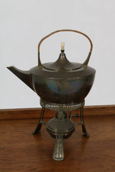 Art Nouveau - Kettle with chafing dish