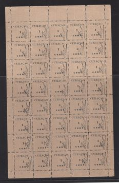 Curaçao 1918 – Support issue – NVPH 73 in 2 complete sheets of 40