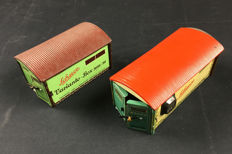 Schuco, US Zone Germany - Length: 12-15.5 cm - Garage 3010/30 and Garage Magico 500, tin toys, 1950s