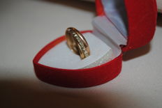 Wedding band in 18 kt gold - size 52