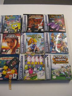 9 boxed Gameboy Advance Games,most off them are complete. Games like: Harvest Moon , sponge bob and more
