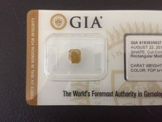 Certified GIA Natural Diamond, Fancy deep brownish yellow for 1.03 ct