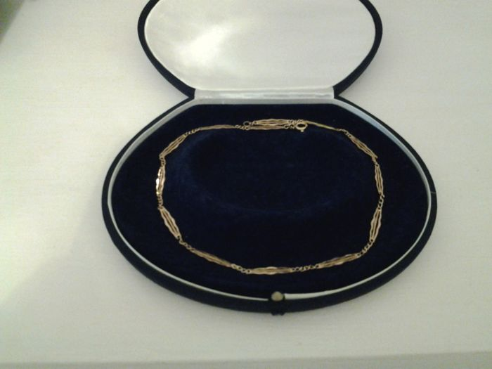 Necklace in 14 kt gold - length: 45 cm ***no reserve price***