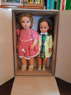 Lot of 2 antique dolls, 1950s