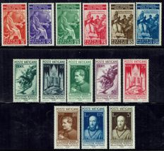 Vatican, 1935/1936 – Two complete series – Judicial and Catholic Press – Sassone Nos. 41/46 and 47/54