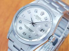 Rolex Oyster Perpetual Date Diamonds Automatic Men's Watch!