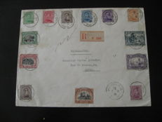 Belgium 1916 - letter of Ste Adresse Le Havre 9 March 1916 for France with COB stamps 135/145.