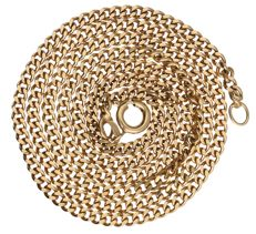 14 kt – Yellow gold, curb link necklace – length: 50.5 cm