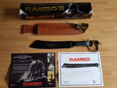 "Very Rare Official (the rarest version to find) John Rambo ""Signature Edition"" and ""Numbered Edition 16.501 / 20.000 "" Machete Knife - Rambo IV (made of 1060 high carbon steel )"